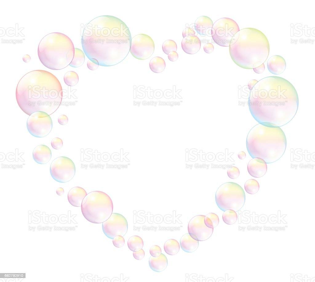 Ilustración de Las Burbujas Formando Un Marco De Corazón Ilustración ...