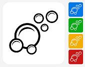 Bubbles Icon Flat Graphic Design
