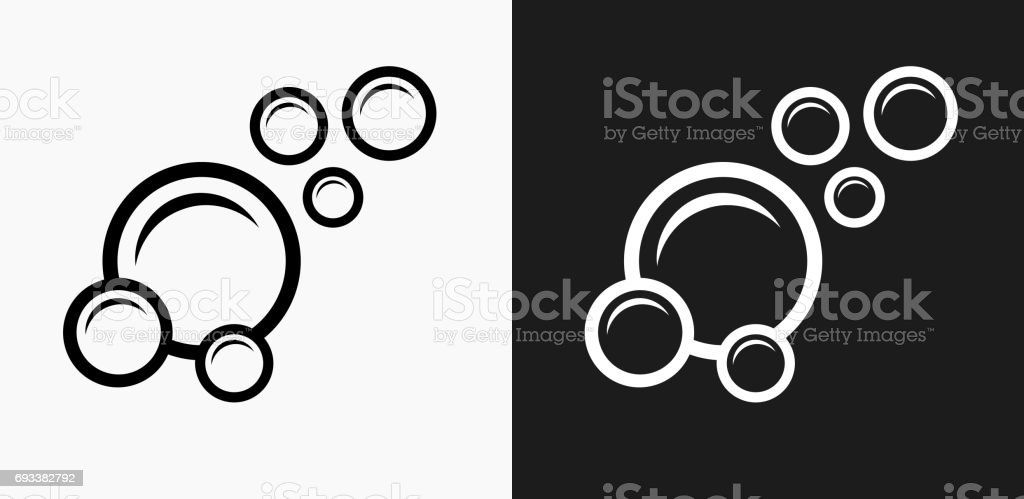 Bubbles Icon on Black and White Vector Backgrounds royalty-free bubbles icon on black and white vector backgrounds stock vector art & more images of black and white