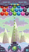 Bubbles shooter game screen