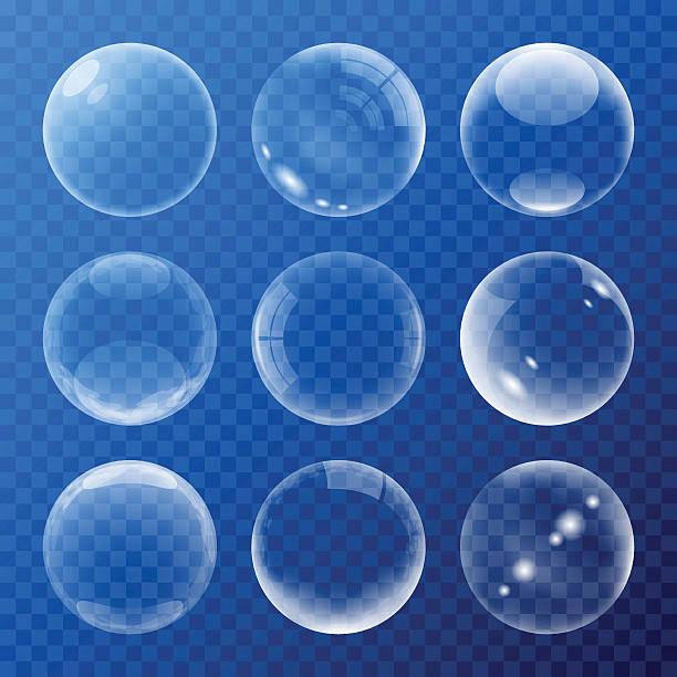 illustrazioni stock, clip art, cartoni animati e icone di tendenza di set bolle indicazioni - sfera lucida