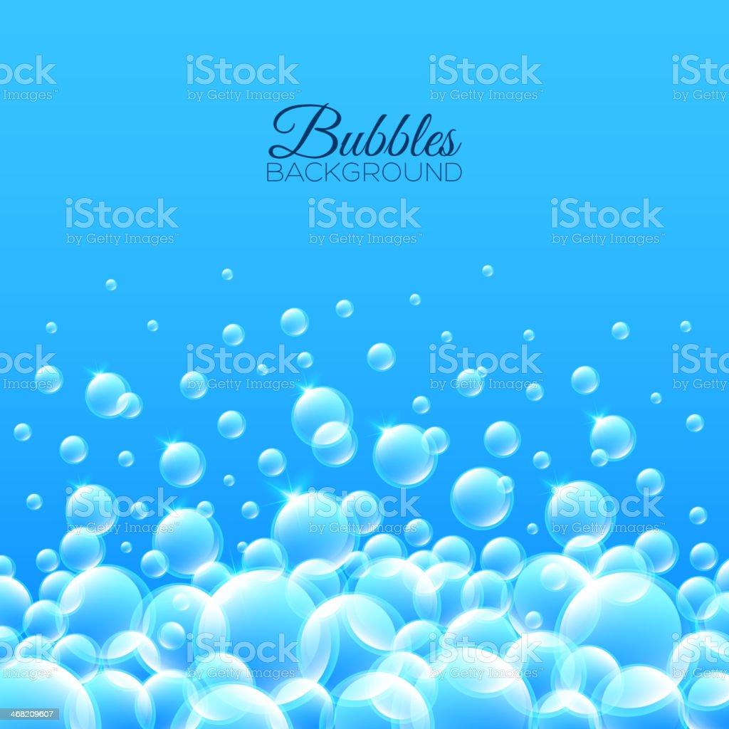 Bubbles Underwater Background vector art illustration