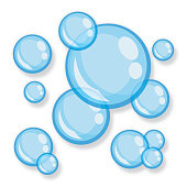Vector illustration of bubbles against a white background.