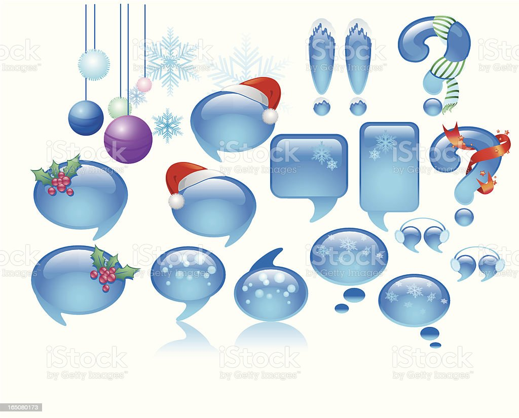 bubbley christmas royalty-free stock vector art