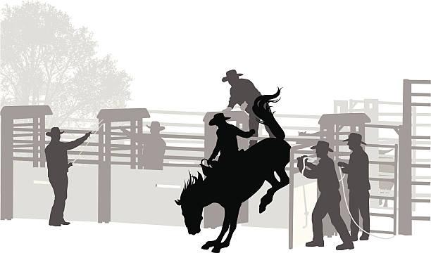 ilustraciones, imágenes clip art, dibujos animados e iconos de stock de buckaroo - rodeo