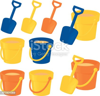 istock Bucket and Spade 472324369