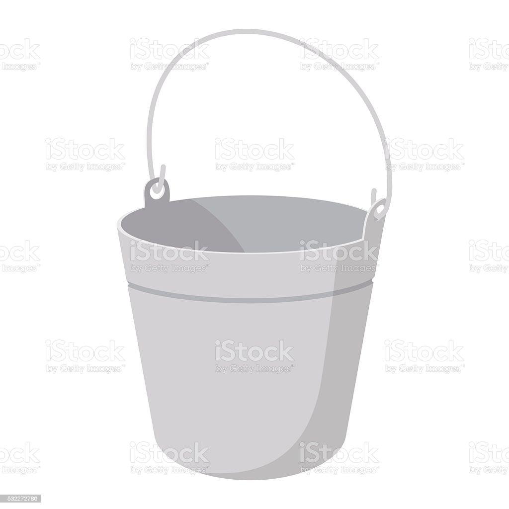 Bucket cartoon icon vector art illustration