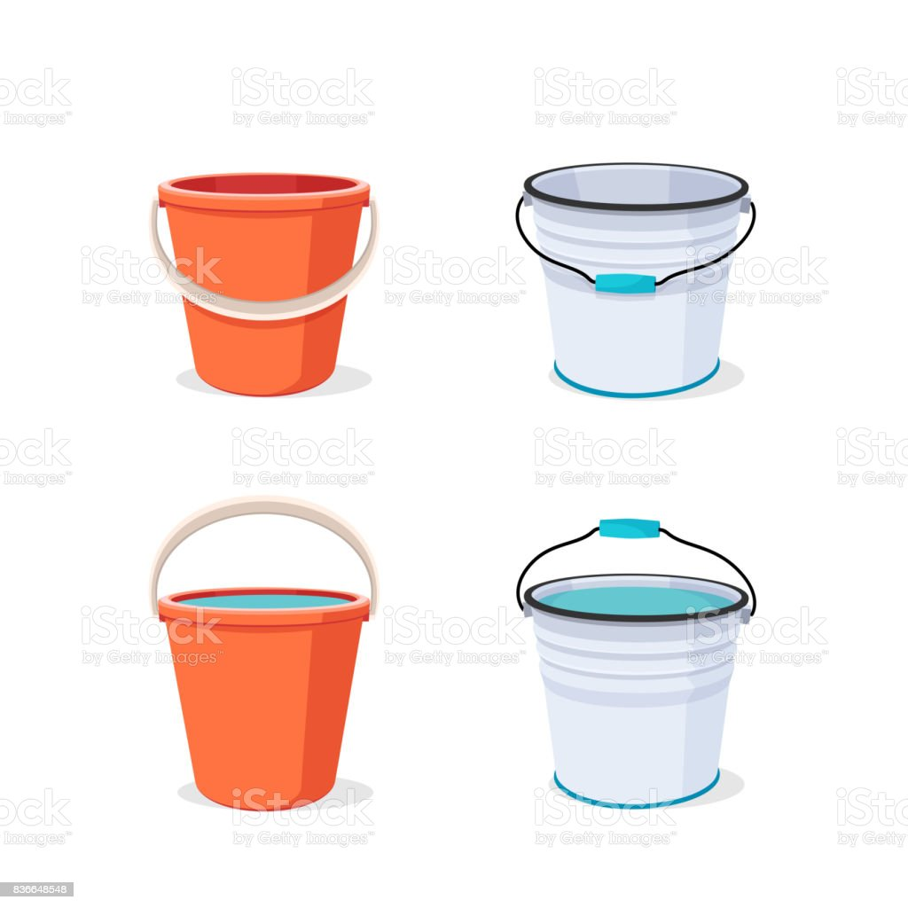 Bucket. Flat vector illustration. vector art illustration