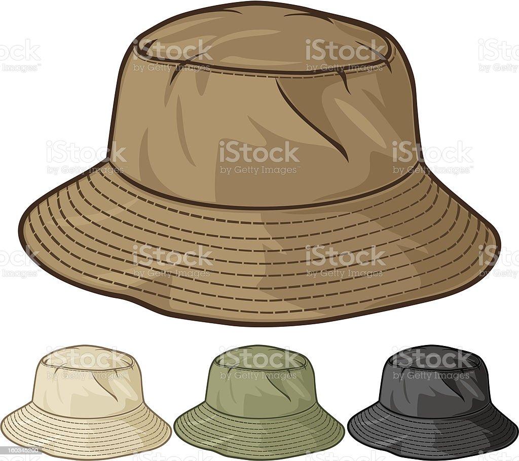 bucket hat collection vector art illustration