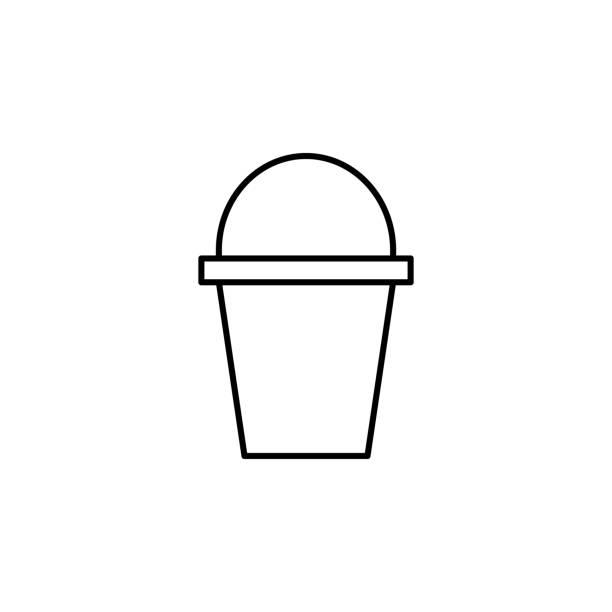 stockillustraties, clipart, cartoons en iconen met het pictogram van de emmer. element van ecologie pictogram voor mobiele concept en web apps. dunne lijn emmer pictogram kan worden gebruikt voor web en mobiel - emmer