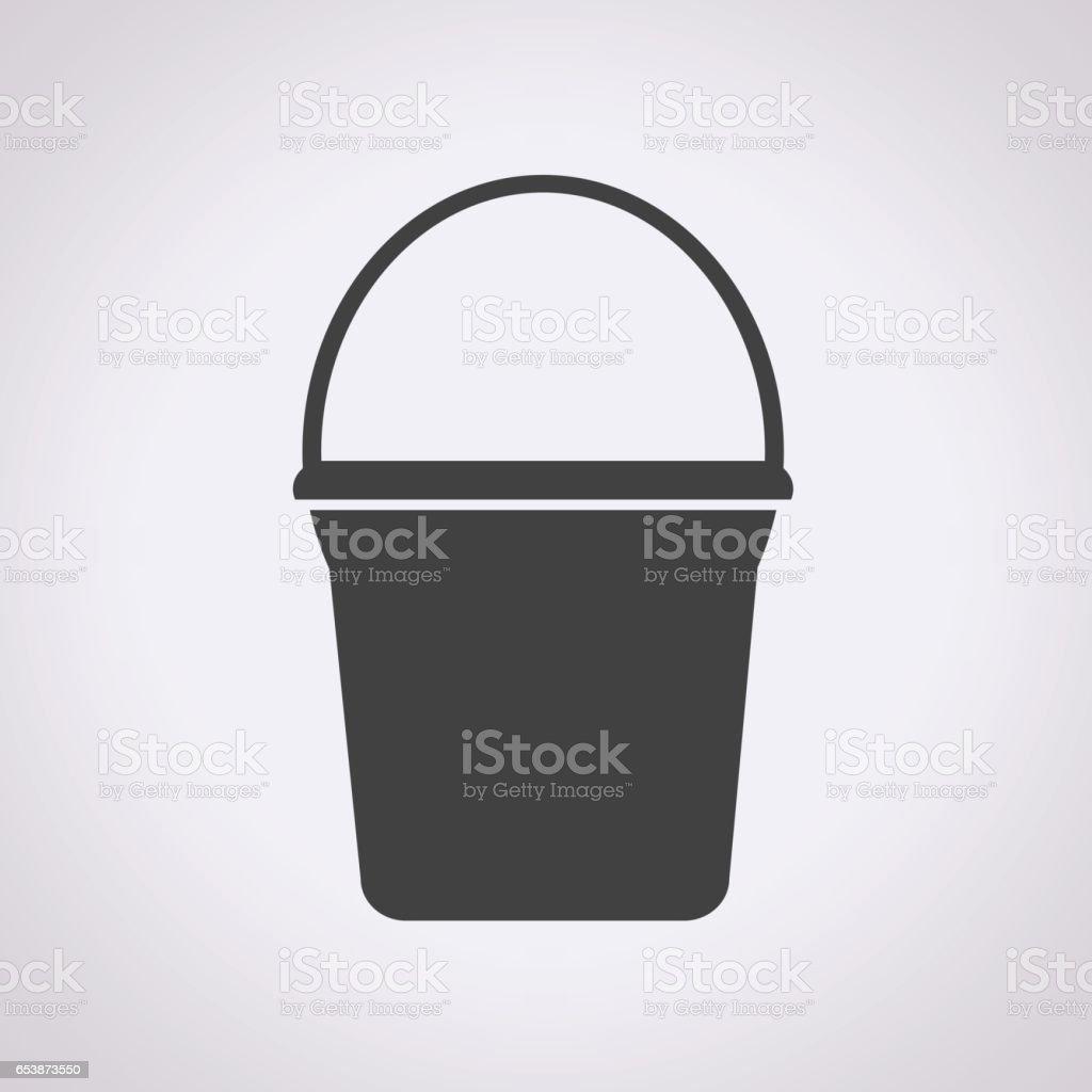 Bucket icon vector art illustration