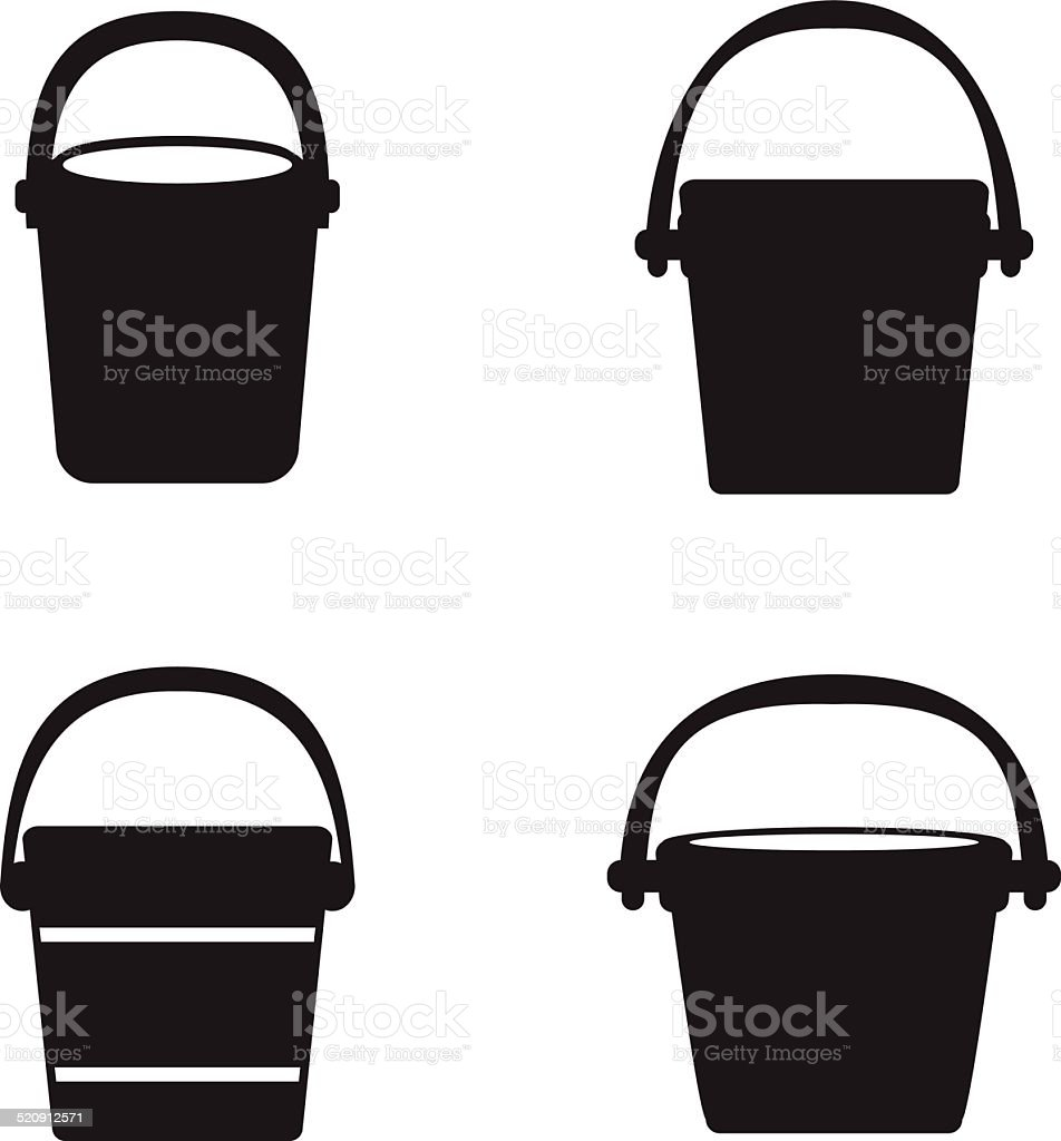 Bucket icons vector art illustration
