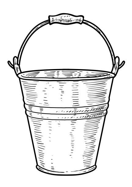 Water Bucket Illustrations Royalty Free Vector Graphics