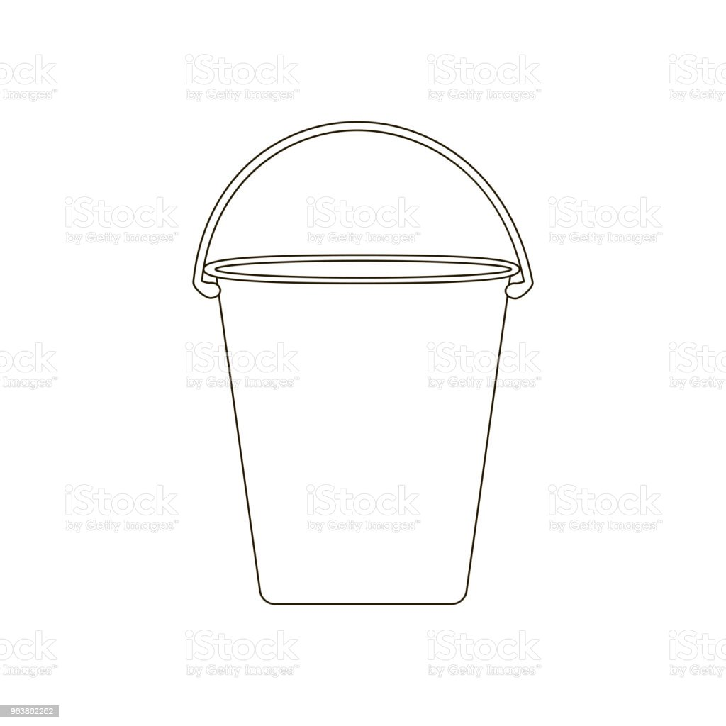 Bucket illustration path - Royalty-free Appliance stock vector