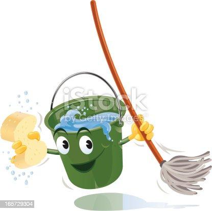 istock Bucket Mop 165729304