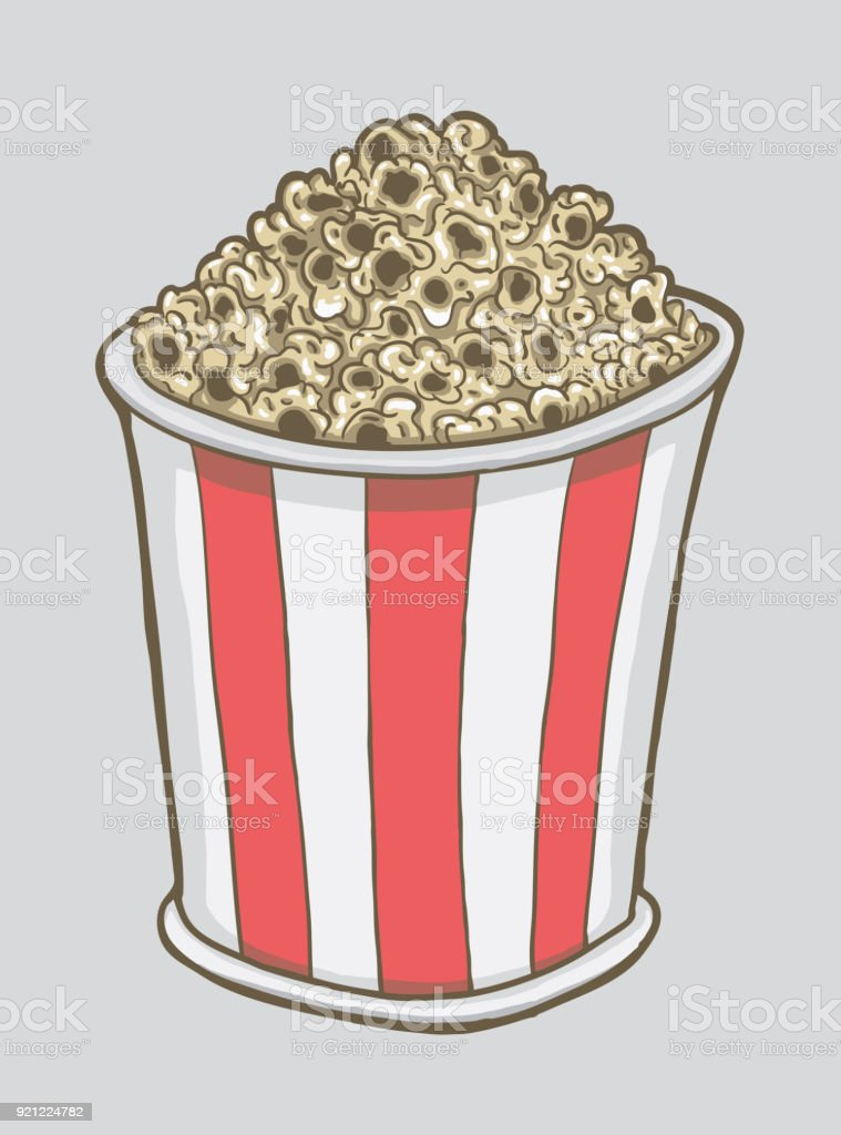 Bucket Of Popcorn Stock Illustration Download Image Now Istock