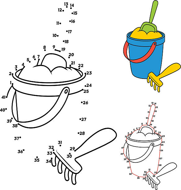 Bucket of Sand vector art illustration