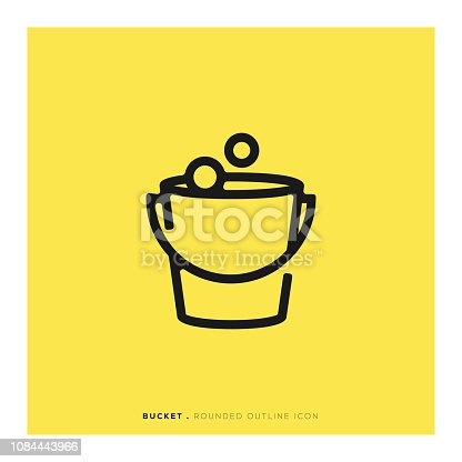 Bucket Rounded Line Icon