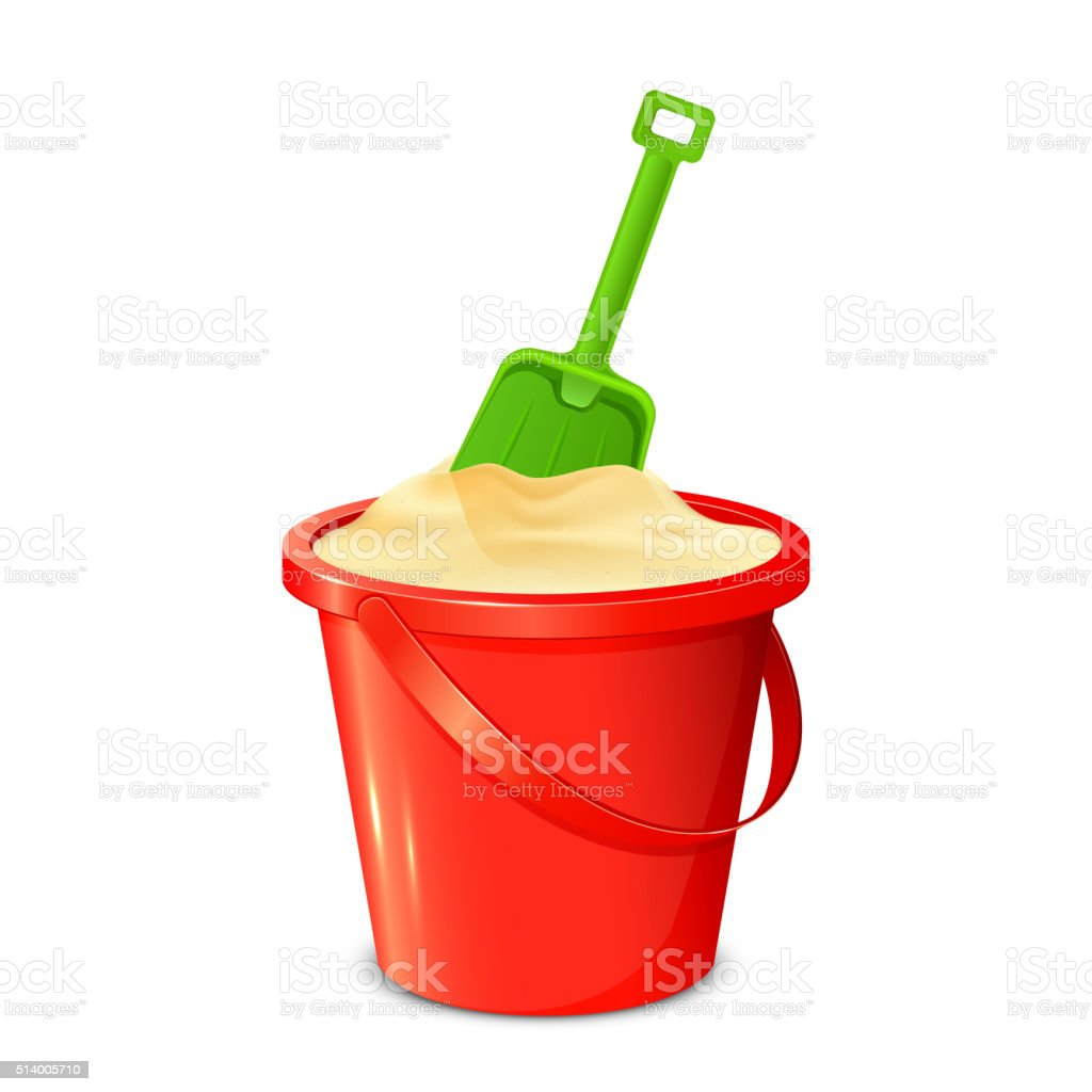 royalty free sand pail and shovel clip art vector images rh istockphoto com clipart sand castle sand clipart background