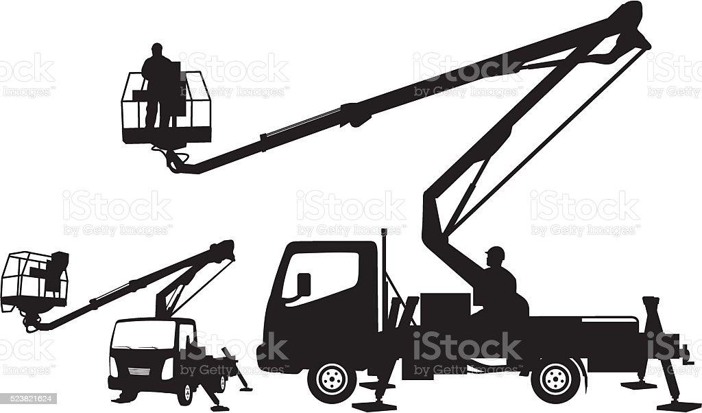 Bucket Truck Cherry Picker Mobile Lift Stock Illustration