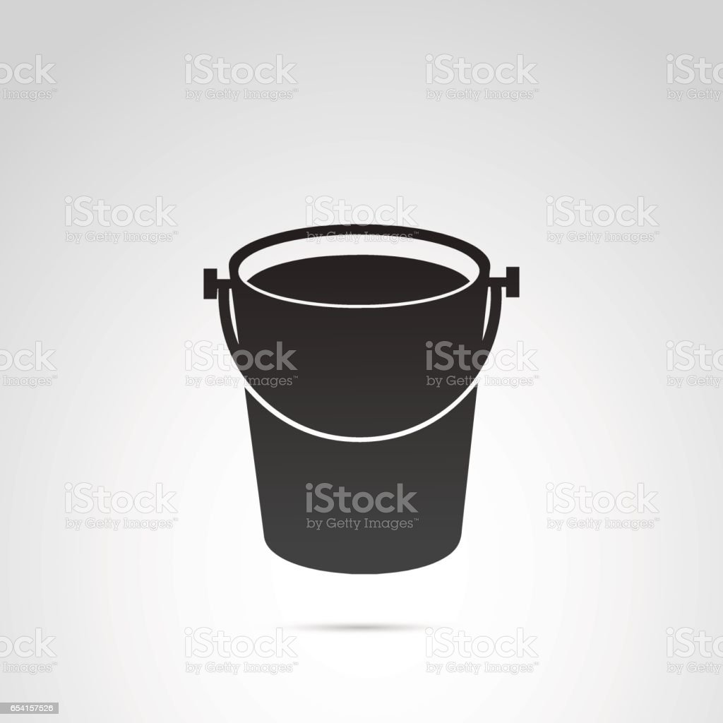 Bucket vector icon. vector art illustration