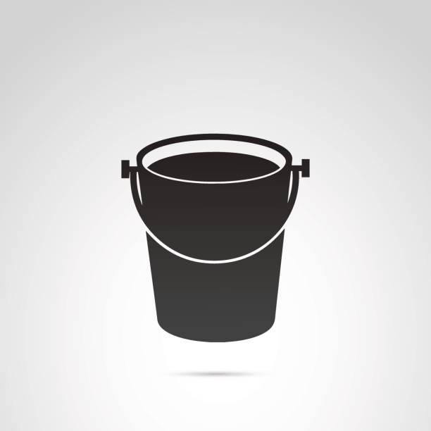 Bucket vector icon. vector art illustration