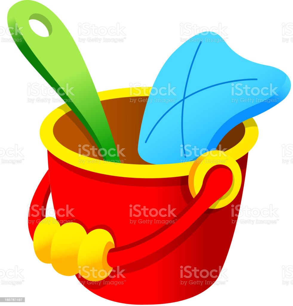 Bucket royalty-free stock vector art