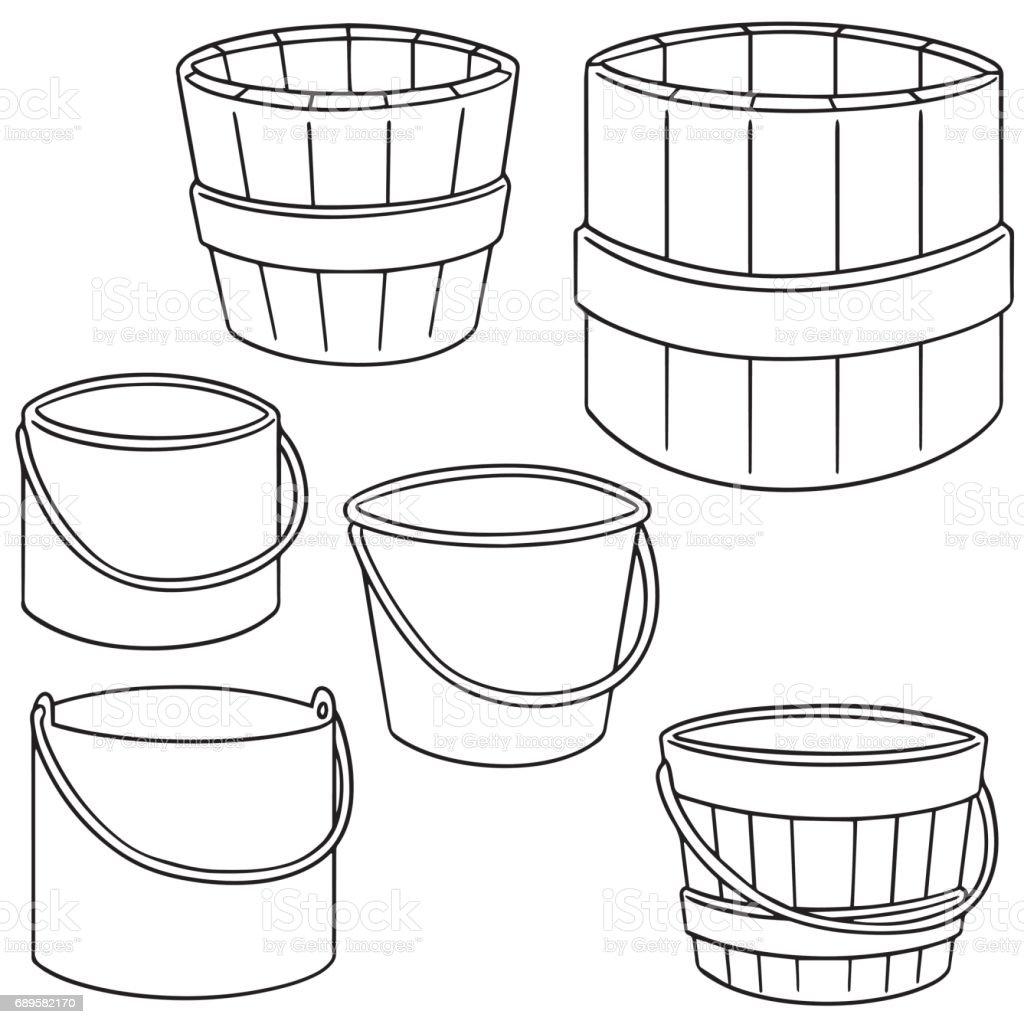 Balde - ilustração de arte em vetor