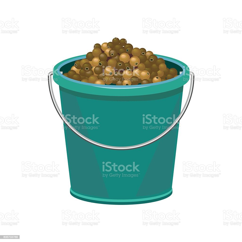 Bucket with peppercorns royalty-free bucket with peppercorns stock vector art & more images of agriculture