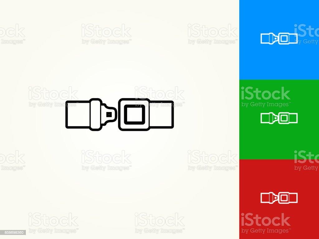 Buckle Up Black Stroke Linear Icon vector art illustration