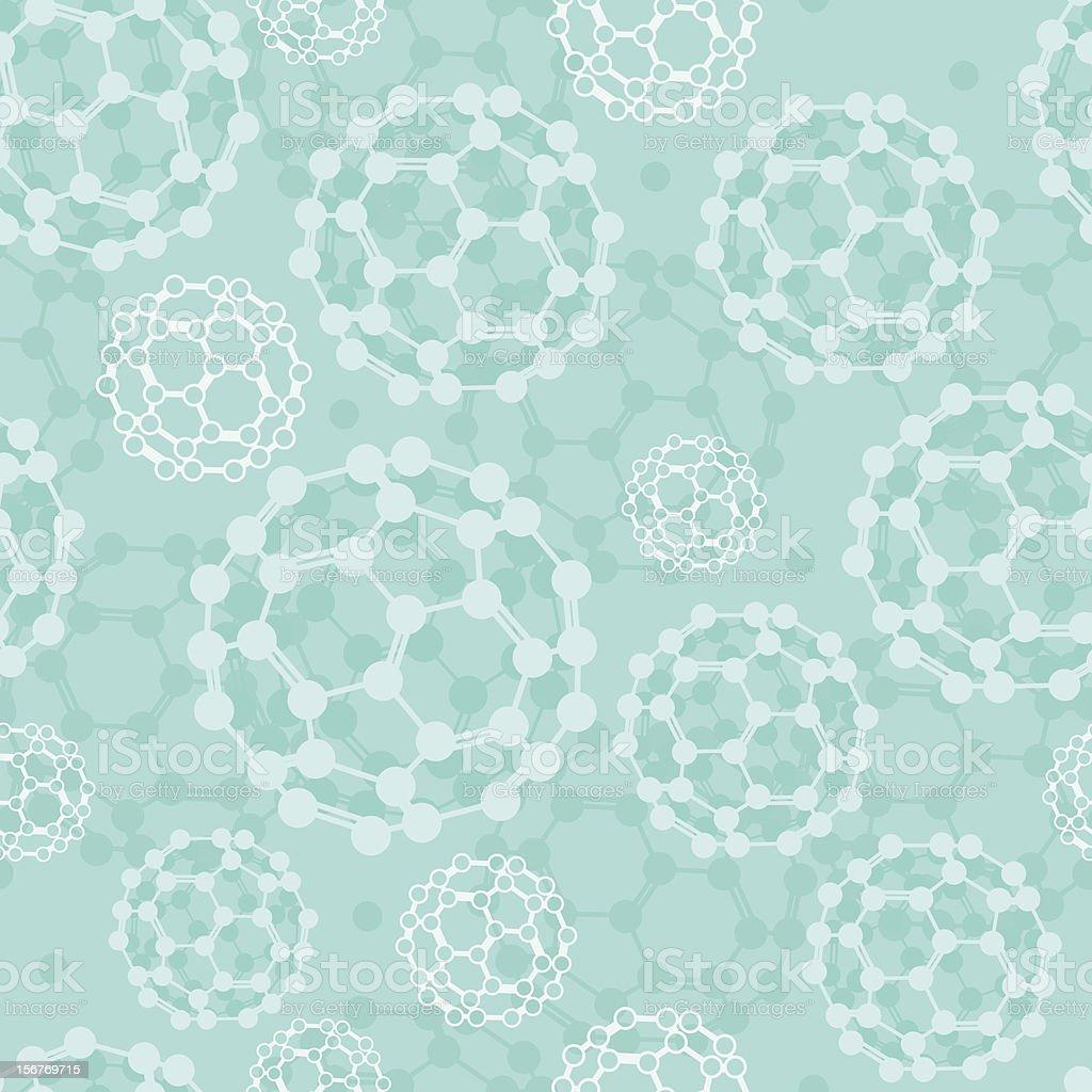 Buckyballs molecules seamless pattern royalty-free stock vector art