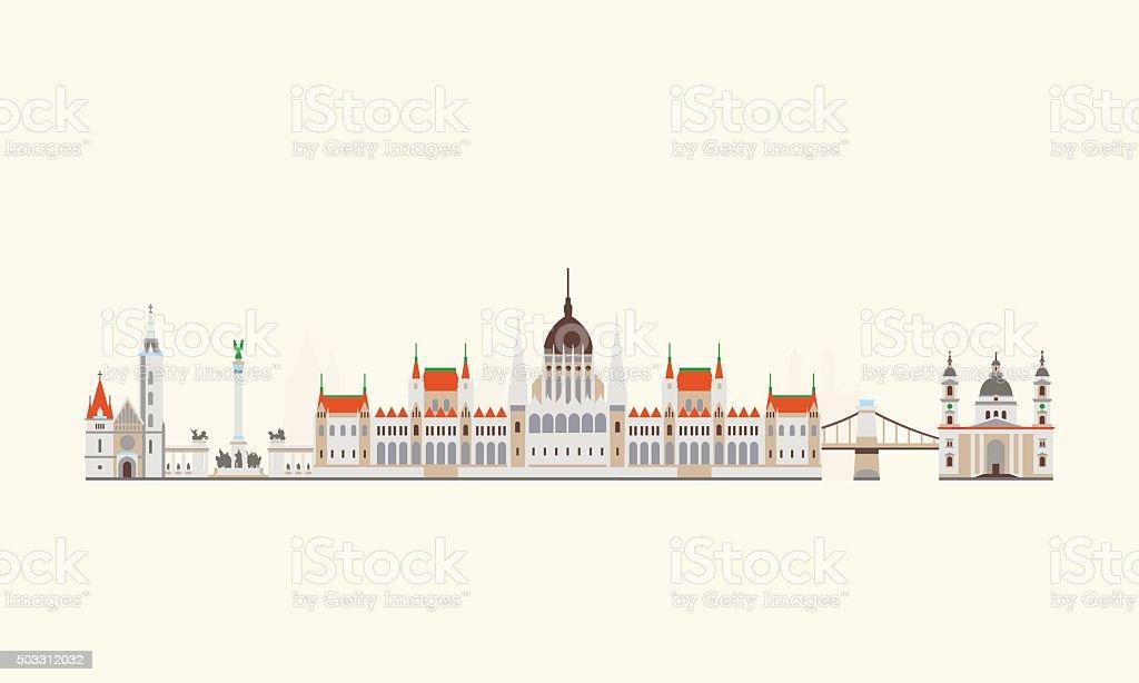 Budapest abstrakte skyline – Vektorgrafik