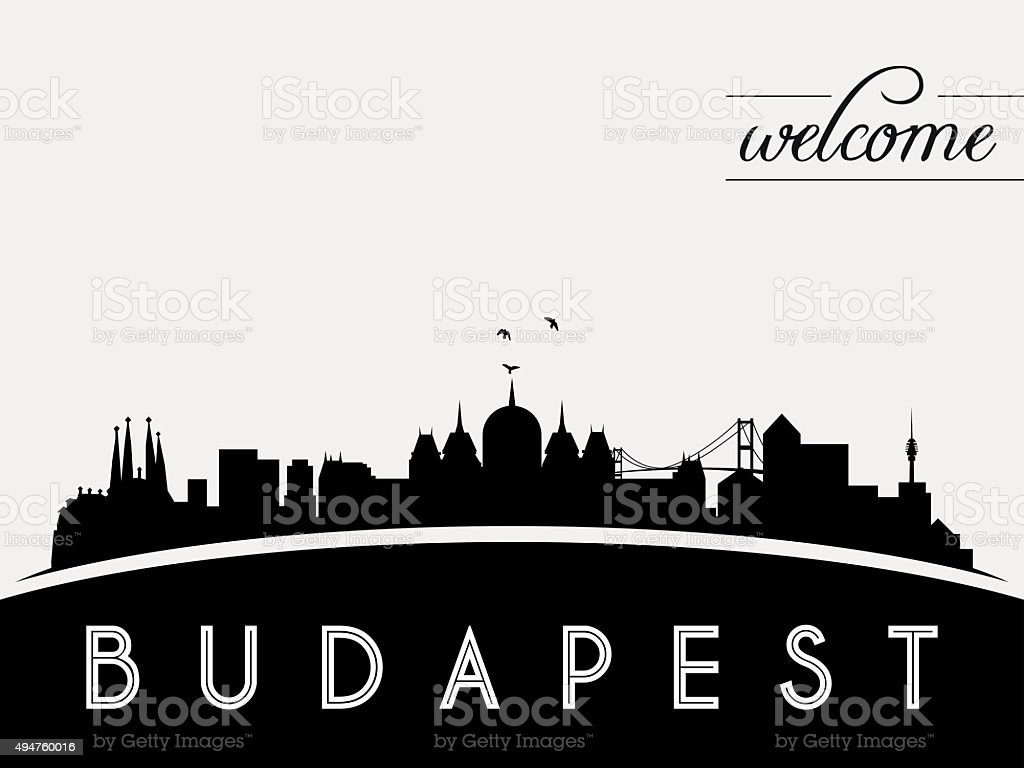 Budapest Hungary skyline silhouette vector illustration vector art illustration