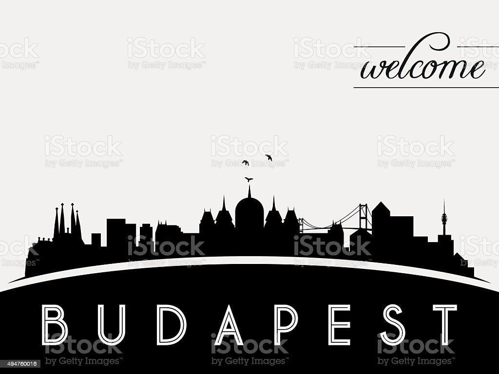 Budapest Ungarn skyline silhouette Vektor-illustration – Vektorgrafik