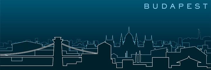 Budapest Multiple Lines Skyline and Landmarks
