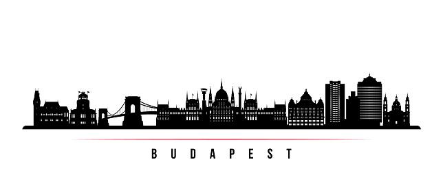 Budapest skyline horizontal banner.