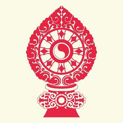 Buddha Dharma Wheel(Buddhist tradition pattern)