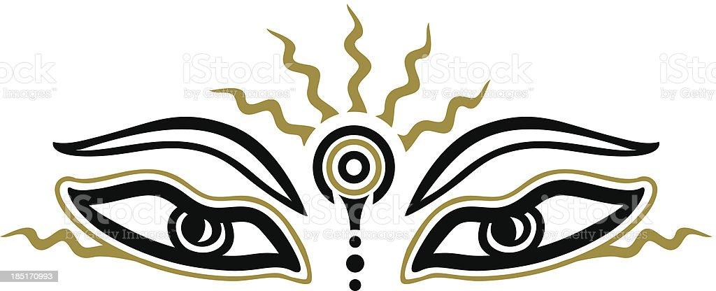 Buddha Eyes Symbol Wisdom Enlightenment Stock Vector Art More