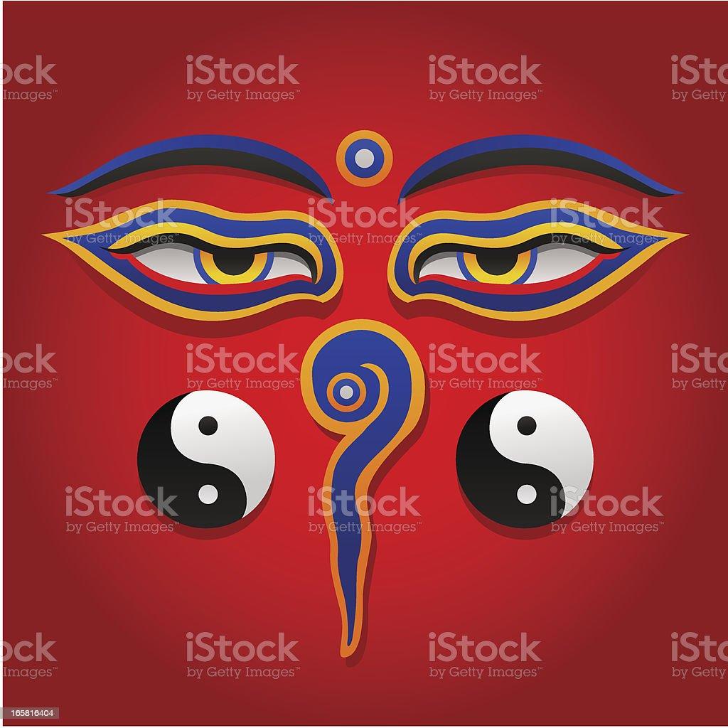 Buddha Eyes vector art illustration