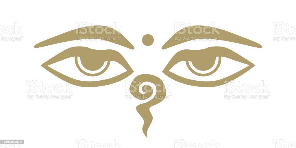 Buddha Eyes Stock Vector Art More Images Of Art 868404874 Istock