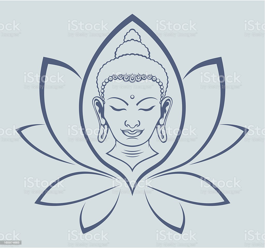 Buddha face royalty-free stock vector art