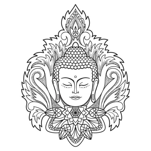 Best Buddha Illustrations Royalty Free Vector Graphics