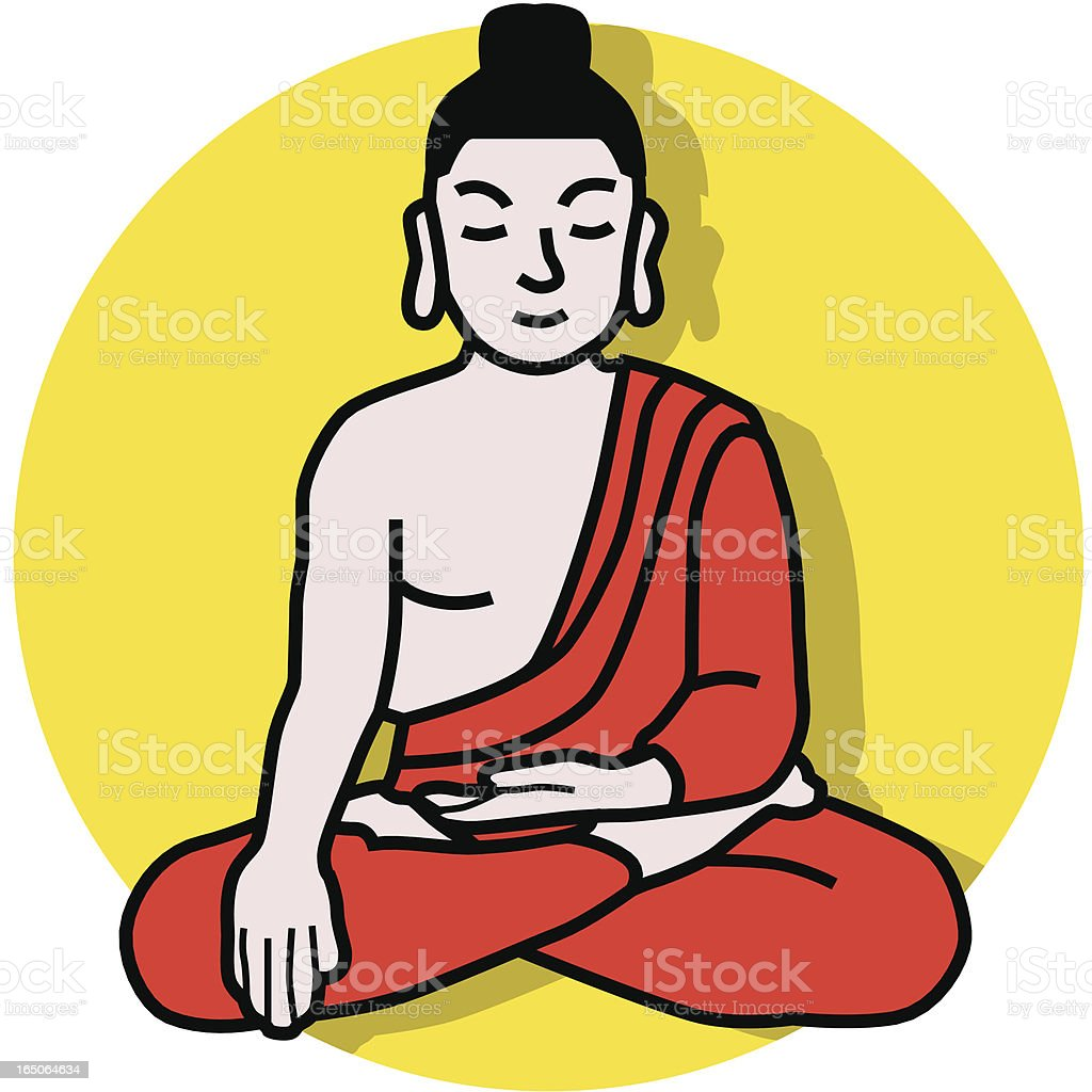 Buddha icon royalty-free stock vector art