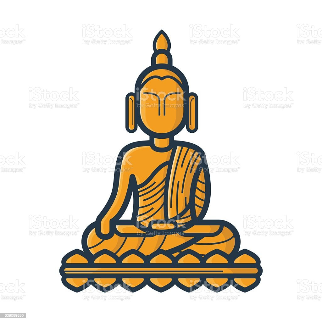 royalty free lord buddha clip art clip art vector images rh istockphoto com buddha clipart black buddha clipart images