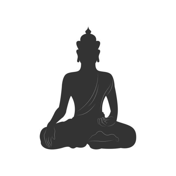 stockillustraties, clipart, cartoons en iconen met boeddha mediteren - boeddha