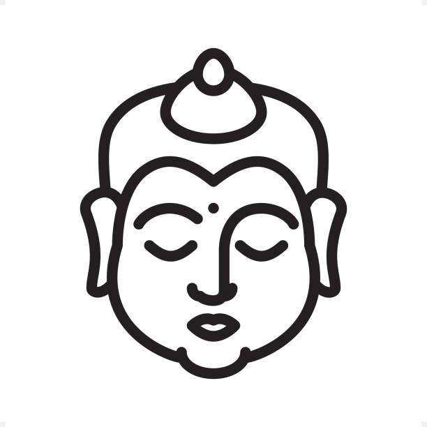 Best Buddha Line Drawings Illustrations, Royalty-Free ...