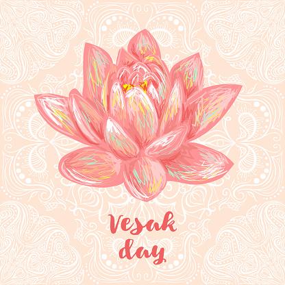 Buddha Purnima or Vesak background