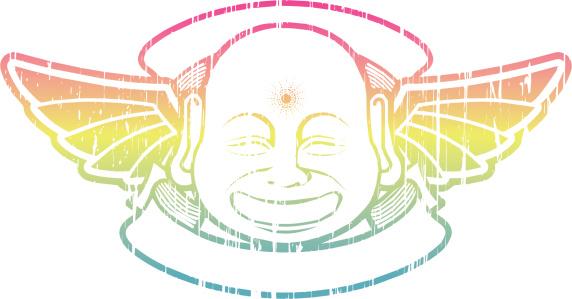 buddha retro logo