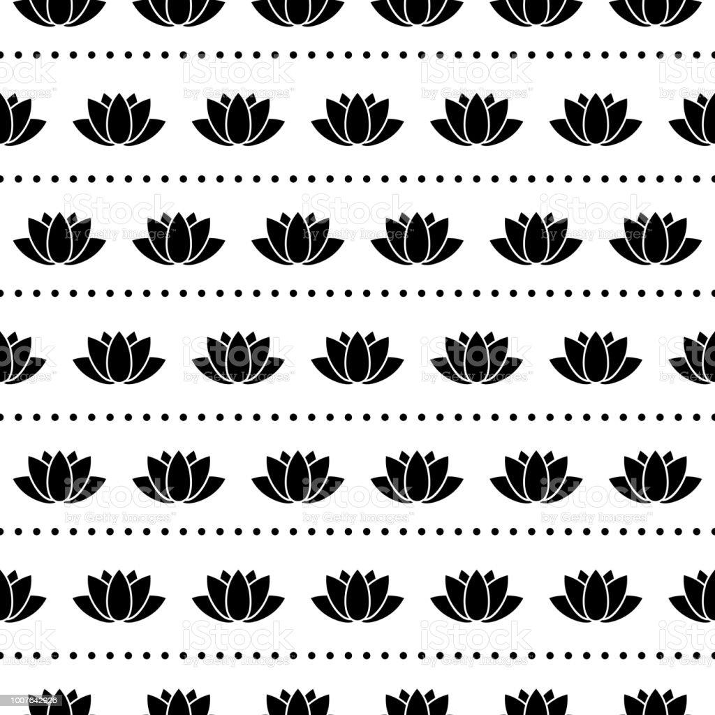 Buddha Seamless Pattern vector art illustration
