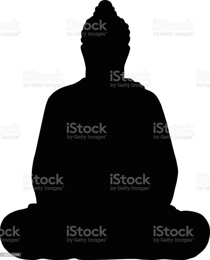 Buddha vector art illustration
